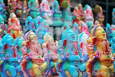 Ganesh chaturthi festival in hyderabad, India