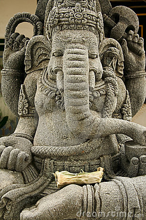 Ganesh elephant headed god statue