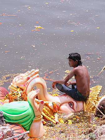 Ganesh Immersion-Hindu festival Editorial Image