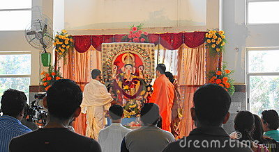 Ganesh Puja-Indian festival for joy and prosperity Editorial Stock Photo