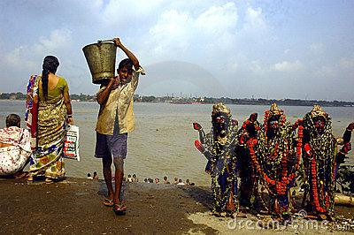 Ganga River  In Kolkata. Editorial Stock Image