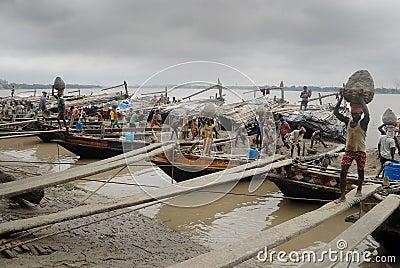 Ganga river in Kolkata Editorial Stock Photo