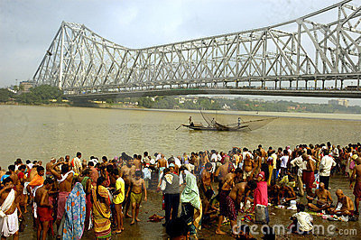 Ganga River Pollution In Kolkata. Editorial Stock Photo