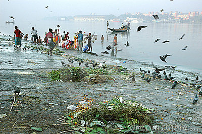 Ganga River Pollution In Kolkata. Editorial Photography