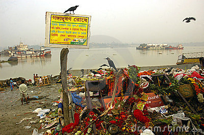 Ganga River Pollution In Kolkata. Editorial Image
