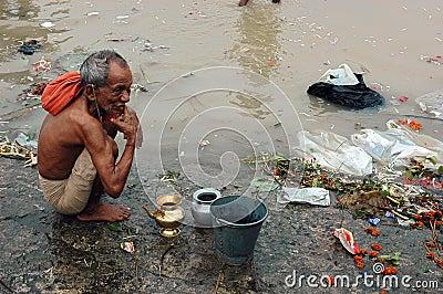 Ganga River Pollution In Kolkata. Editorial Image