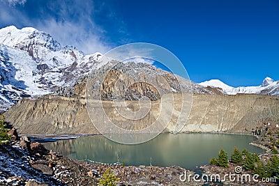 Gangapurna lake, Himalaya