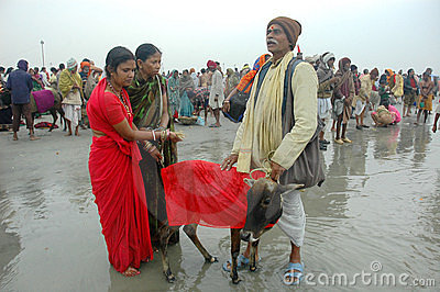 Gangasagar Festival In India. Editorial Stock Photo