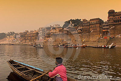 The Ganges river.India Editorial Image