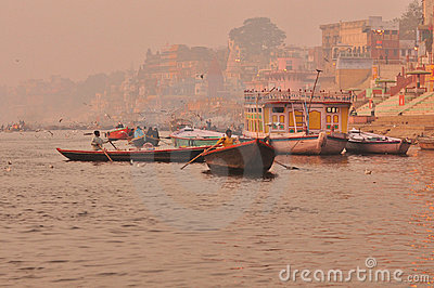 The Ganges river.India Editorial Photography
