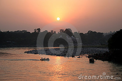 Ganges River Sunset