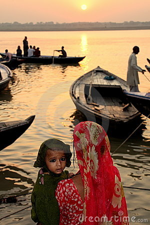 Ganges sunrise Editorial Image