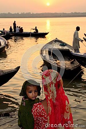 Ganges sunrise Editorial Image