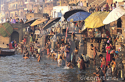 The Ganges In Varanasi Editorial Image