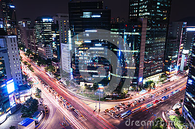 Gangnam Intersection Editorial Photo