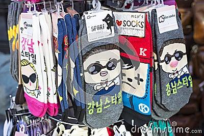 Gangnam Style Socks Editorial Photography
