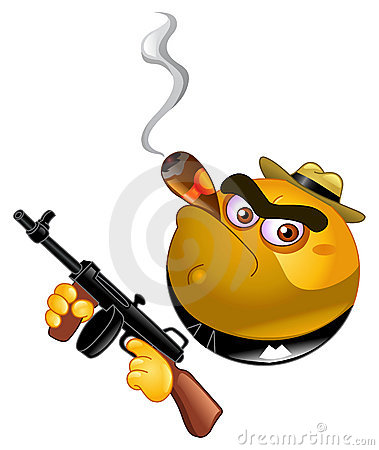 Free Gangster Emoticon Royalty Free Stock Images - 16666919