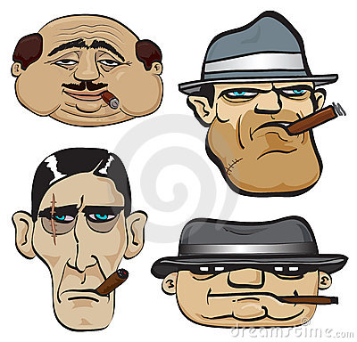 Free Gangster Faces Stock Photography - 7227272