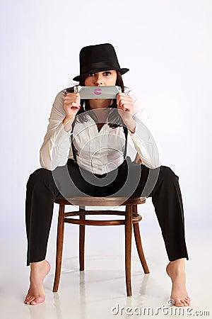 Gangster-girl portrait