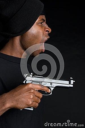 Gangster Holding Gun