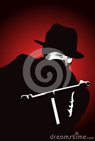 Gangster mit Gewehr