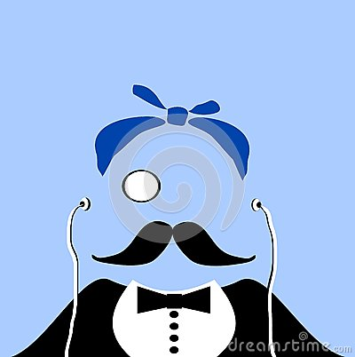 Gangster with monocle