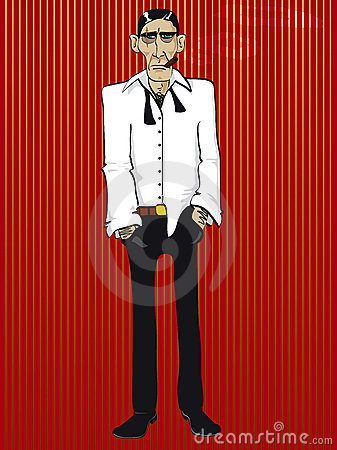 Free Gangster Scarface Vector Royalty Free Stock Photography - 2546497