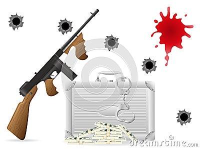 Gangsterska pojęcie ilustracja