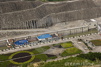 Gangway  of Three Gorges Dam, detail Editorial Photo