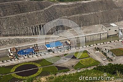 Gangway  of Three Gorges Dam, detail Editorial Photo