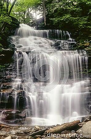Ganoga Falls in early May