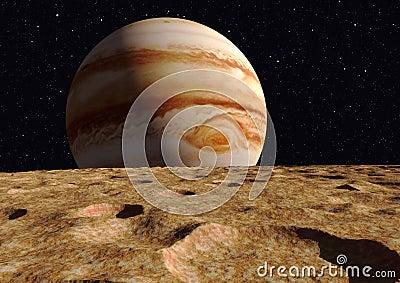 Ganymede Moon Jupiter Royalty Free Stock Photography