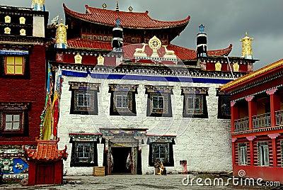 Ganzi, China: Ta Gong Tibetan Monastery Editorial Photo