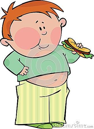 Garçon avec le hot dog