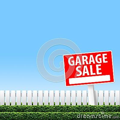 Garażu sprzedaży znak