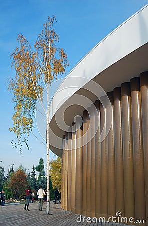 Garage contemporary culture center new building Editorial Photo