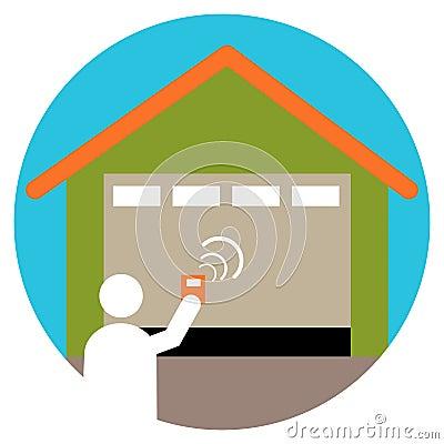 An image of a garage door opener icon