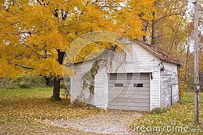 Garage in fall
