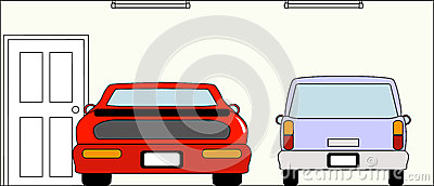 Garage mit Autos