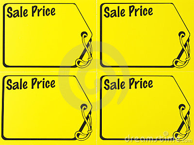 Garage sale price sign