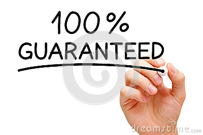 Garanti 100 pour cent