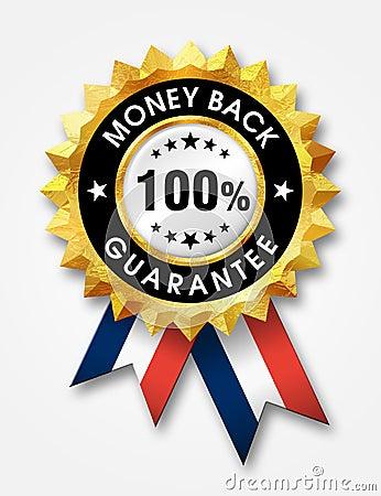 Garantie 100  arrière d argent