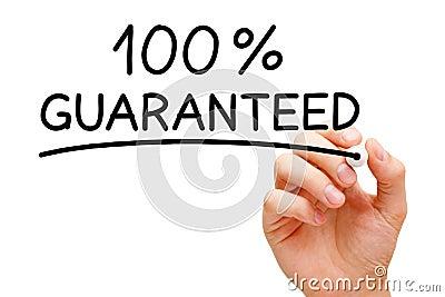 Garantizado el 100 por ciento