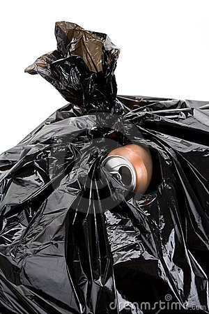Garbage Bag and can