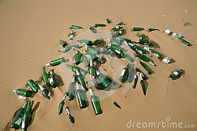 Garbage bottles