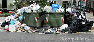 Garbage in city