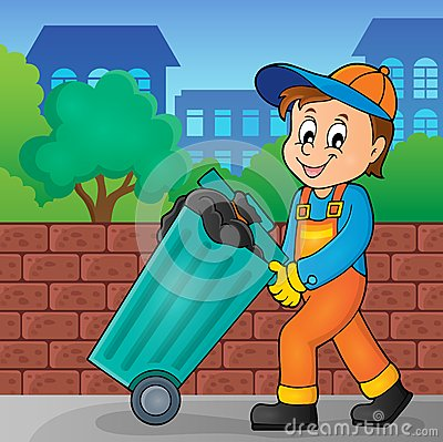 Garbage collector theme image 2 Vector Illustration