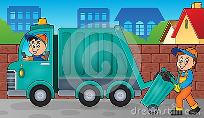 Garbage collector theme image 3 Vector Illustration