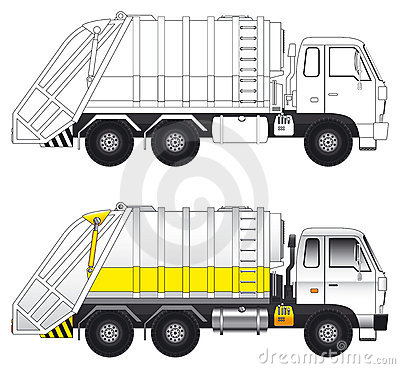 Free Garbage Compactor Truck Vector Royalty Free Stock Photo - 5853785