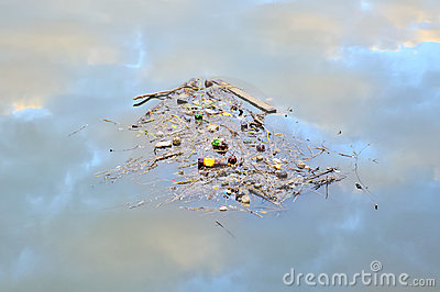 Garbage Floating on the Water